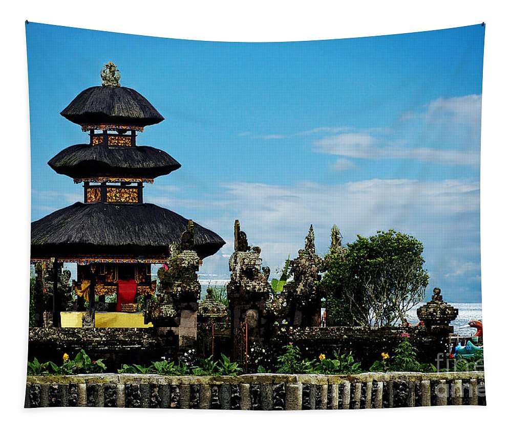 Bali Tapestry featuring the photograph Bali Wayer Temple by Ben Yassa