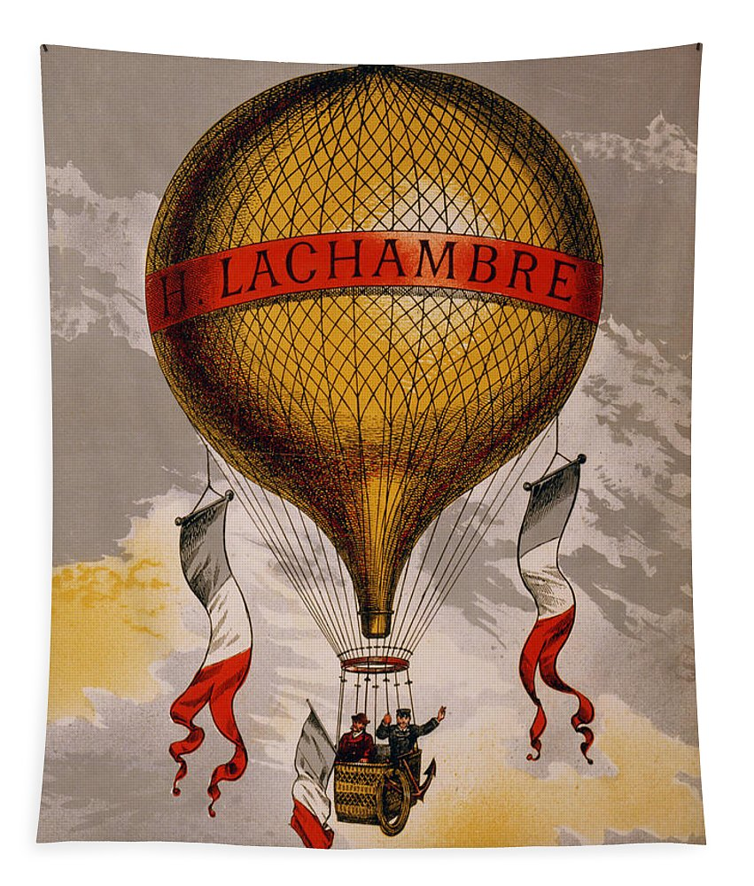 Vintage Tapestry featuring the digital art Balloon by Georgia Fowler