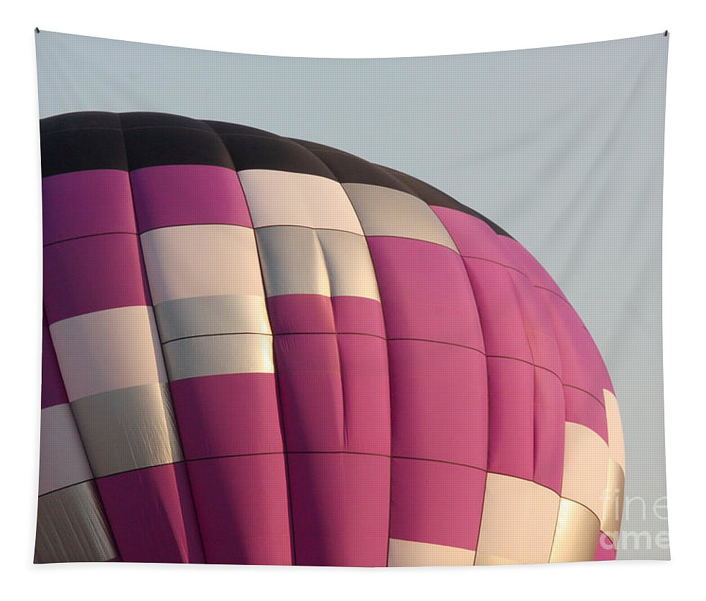 Hot Air Balloon Tapestry featuring the photograph Balloon-purple-7457 by Gary Gingrich Galleries