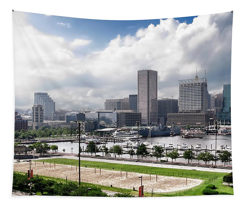 Baltimore Tapestry featuring the photograph Baltimore Maryland by Olivier Le Queinec