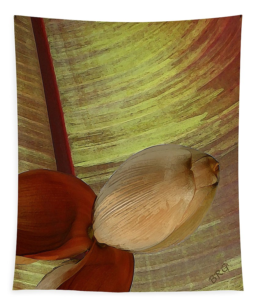 Botanical Tapestry featuring the photograph Banana Composition I by Ben and Raisa Gertsberg