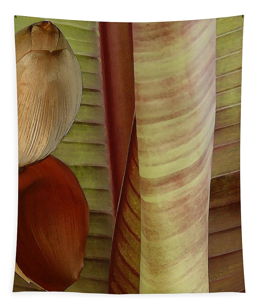 Botanical Tapestry featuring the photograph Banana Composition II by Ben and Raisa Gertsberg