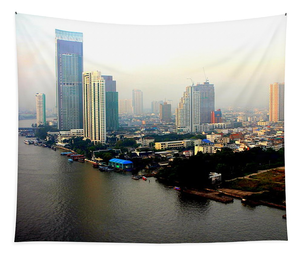 Bangkok Tapestry featuring the photograph Bangkok In Early Morning Light by Laurel Talabere