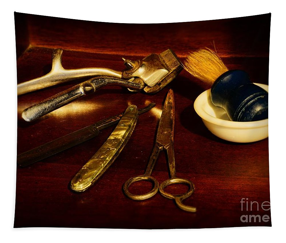 Barber - Things In A Barber Shop Tapestry featuring the photograph Barber - Things In A Barber Shop by Paul Ward