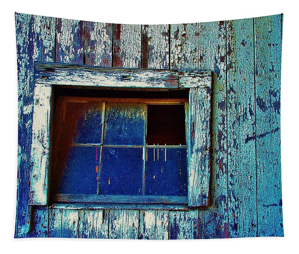 Barn Tapestry featuring the photograph Barn Window 1 by Daniel Thompson