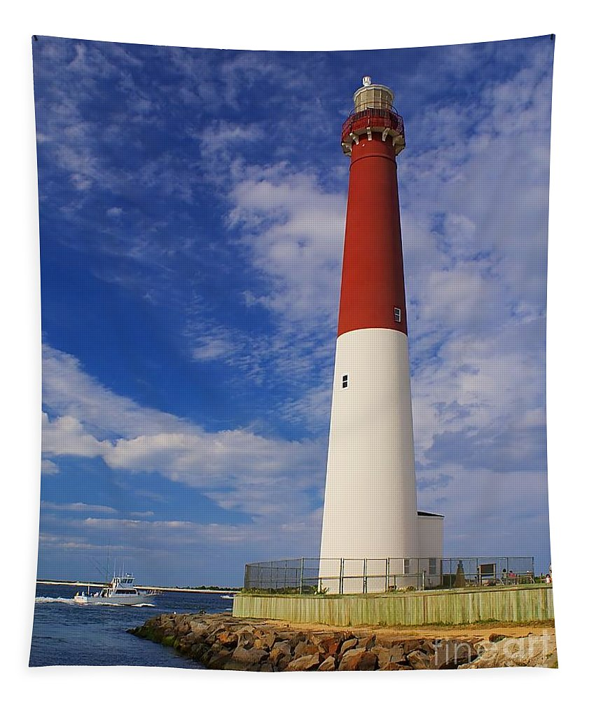 Lighthouse Tapestry featuring the photograph Barnegat Light New Jersey by Nick Zelinsky