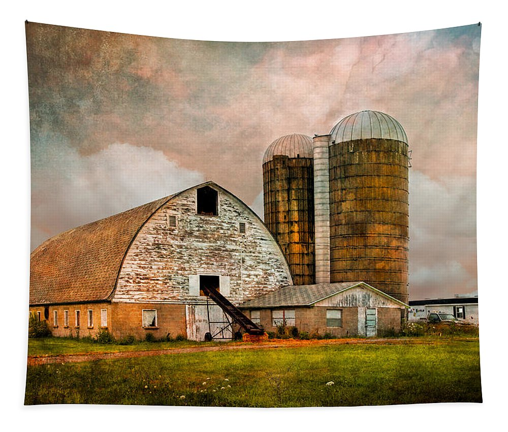 Appalachia Tapestry featuring the photograph Barns In The Country by Debra and Dave Vanderlaan