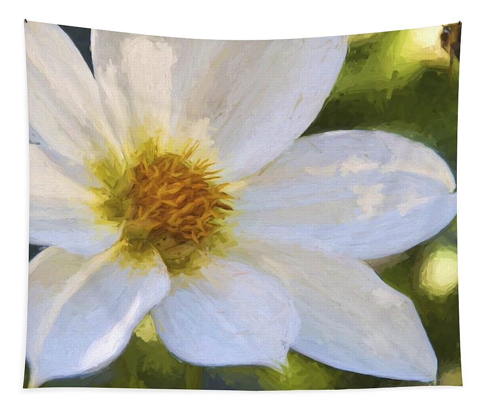 Bartrams Garden Tapestry featuring the photograph Bartram Bee Flying by Alice Gipson