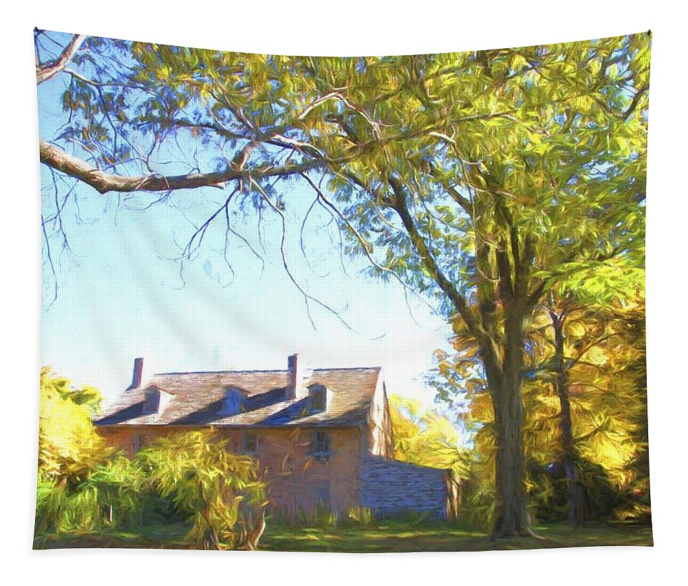 Bartrams Garden Tapestry featuring the photograph Bartram's Wooded by Alice Gipson