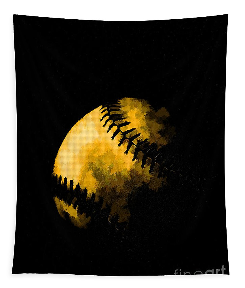Base Tapestry featuring the photograph Baseball The American Pastime by Edward Fielding