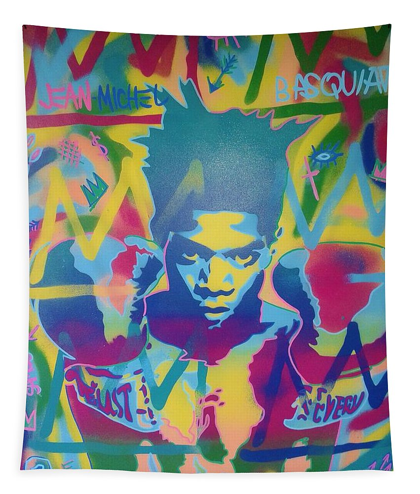 Andy Warhol Tapestry featuring the painting Basquiat by Leon Keay