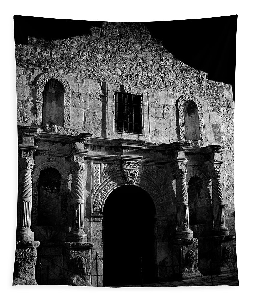 The Alamo Tapestry featuring the photograph Bastion Of Legends by Mountain Dreams