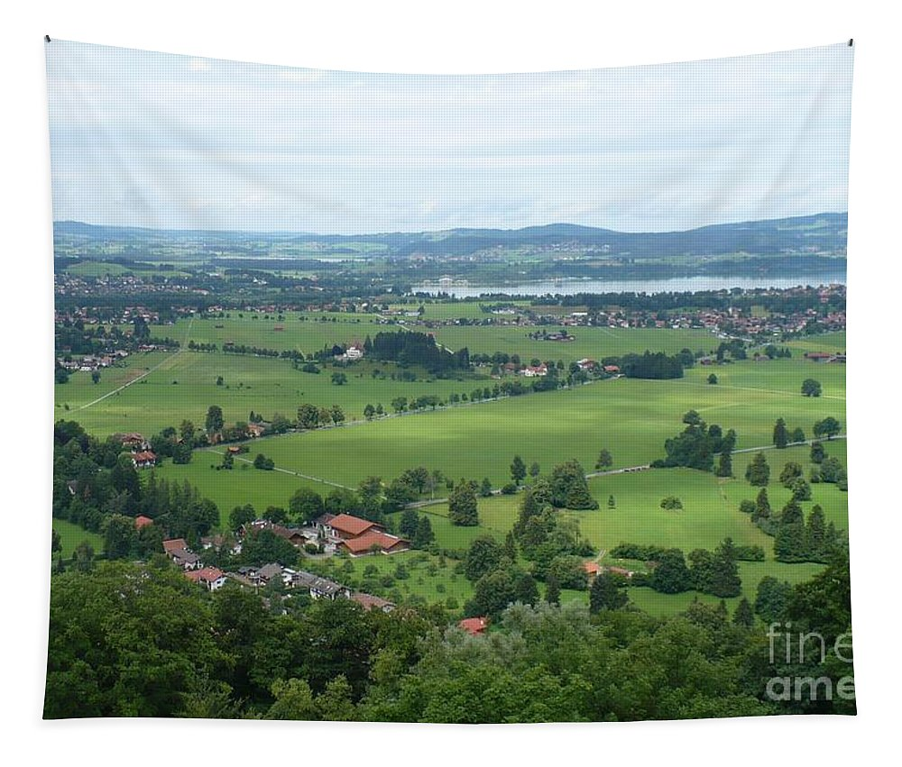Germany Tapestry featuring the photograph Bavarian Green Valley by Carol Groenen
