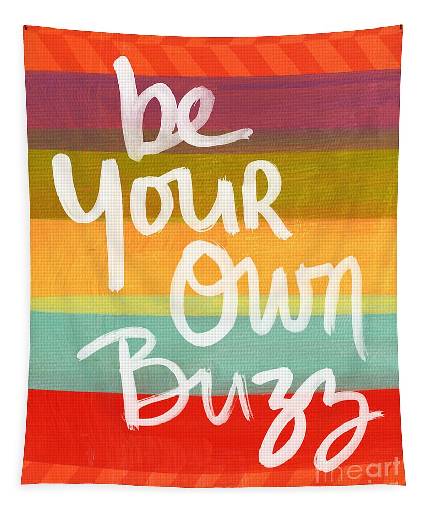 Stripes Tapestry featuring the painting Be Your Own Buzz by Linda Woods