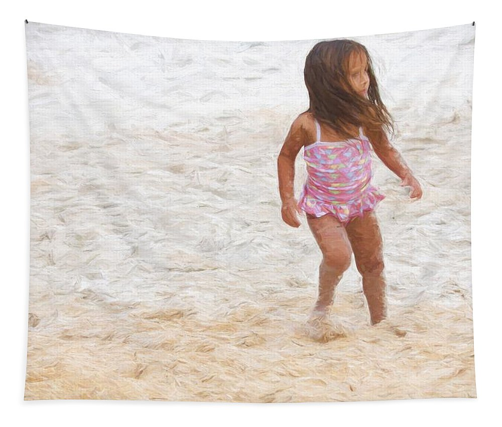 Girl Tapestry featuring the photograph Beach Baby by Alice Gipson