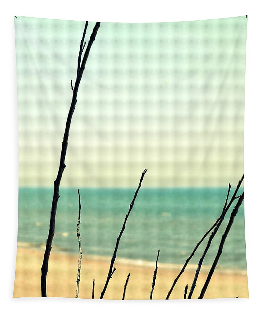 Beach Tapestry featuring the photograph Beach Branches by Michelle Calkins