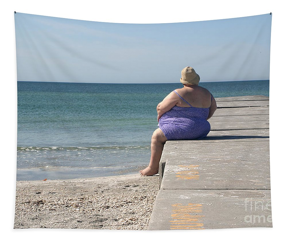 Beach Tapestry featuring the photograph Beach Dreamer by Madeline Ellis