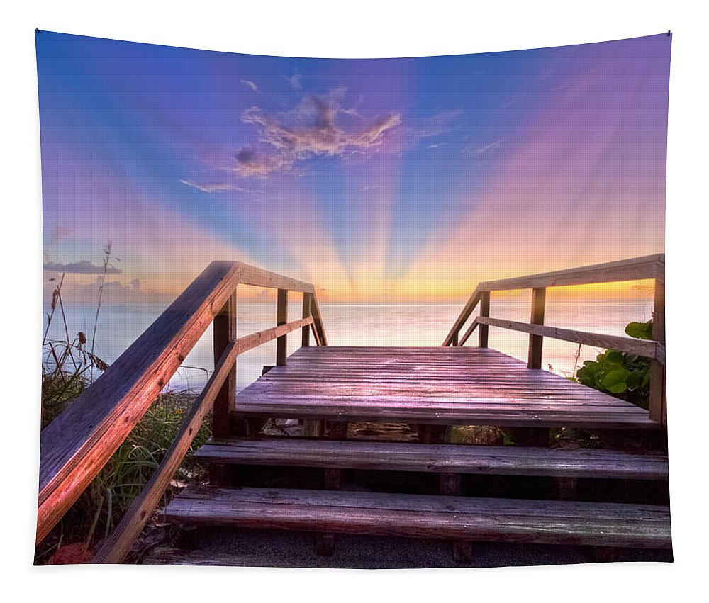 Blowing Tapestry featuring the photograph Beach Dreams by Debra and Dave Vanderlaan