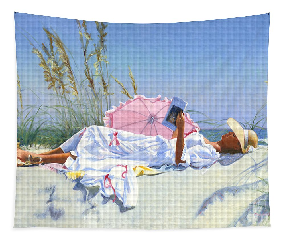 Impressionist Tapestry featuring the painting Beach Recliner by Candace Lovely