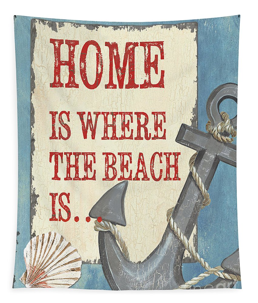 Beach Tapestry featuring the painting Beach Time 2 by Debbie DeWitt