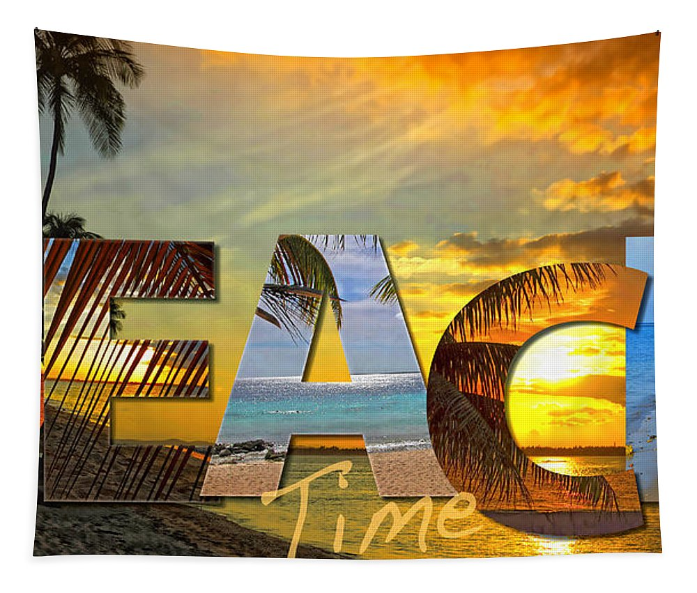 Beach Tapestry featuring the photograph Beach Time by Stephen Anderson