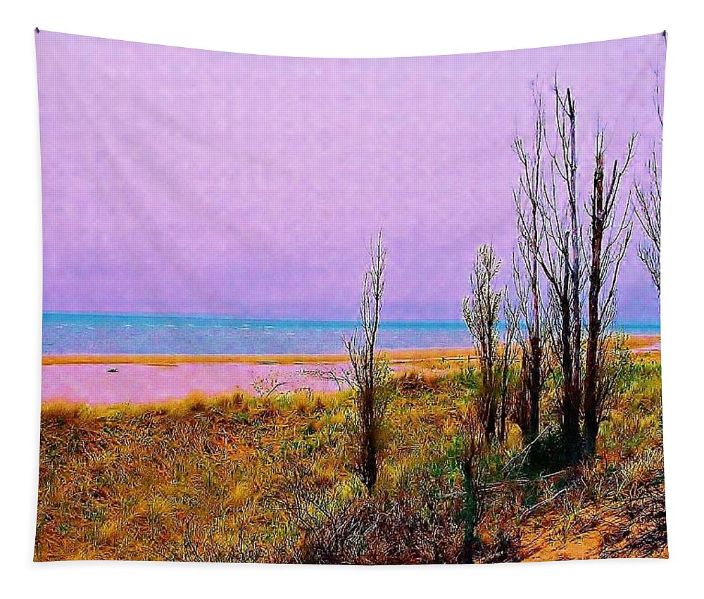 Beach Tapestry featuring the photograph Beach Trees by Daniel Thompson