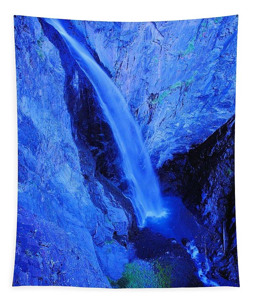 Colorado Tapestry featuring the photograph Bear Creek Falls Clolorado by Jeff Swan