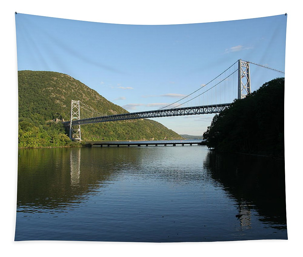 Karen Silvestri Tapestry featuring the photograph Bear Mountain Bridge by Karen Silvestri