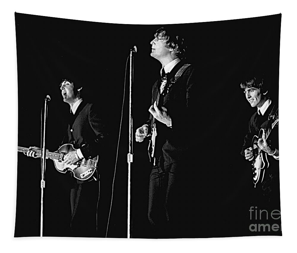 Beatles Tapestry featuring the photograph Beatles In Concert, 1964 by Larry Mulvehill