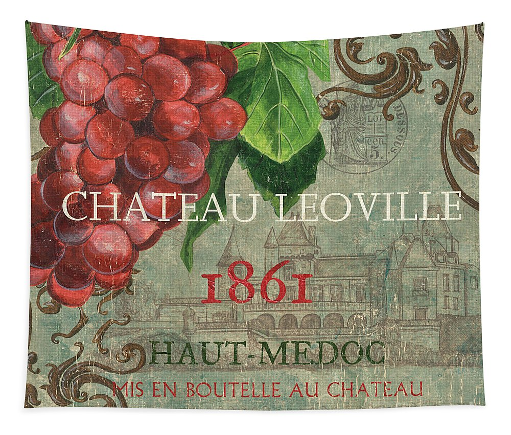 Wine Tapestry featuring the painting Beaujolais Nouveau 1 by Debbie DeWitt