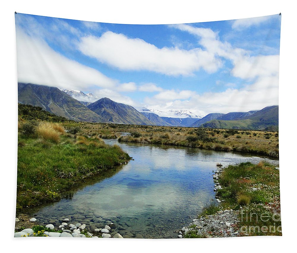 Nature Tapestry featuring the photograph Beautiful New Zealand by Ben Yassa