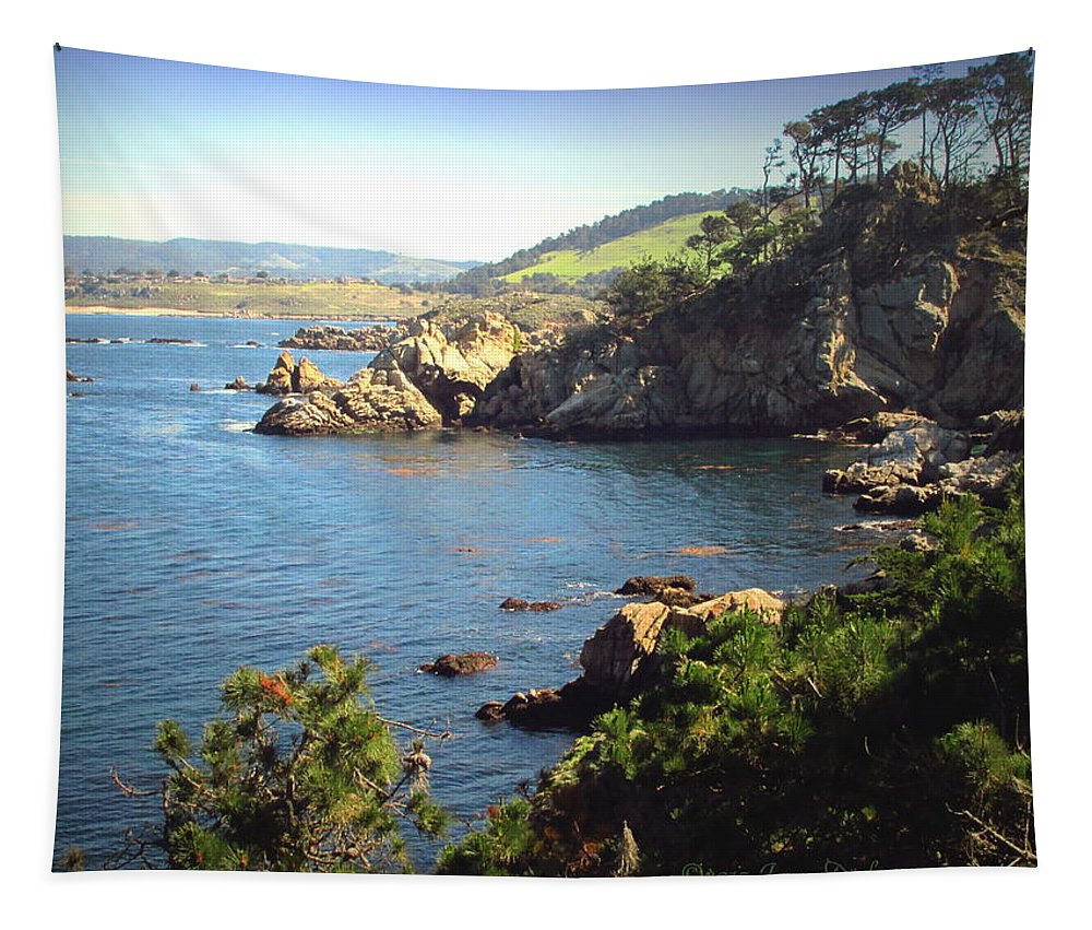 Point-lobos Tapestry featuring the photograph Beautifully Rugged Shoreline At Point Lobos Two by Joyce Dickens