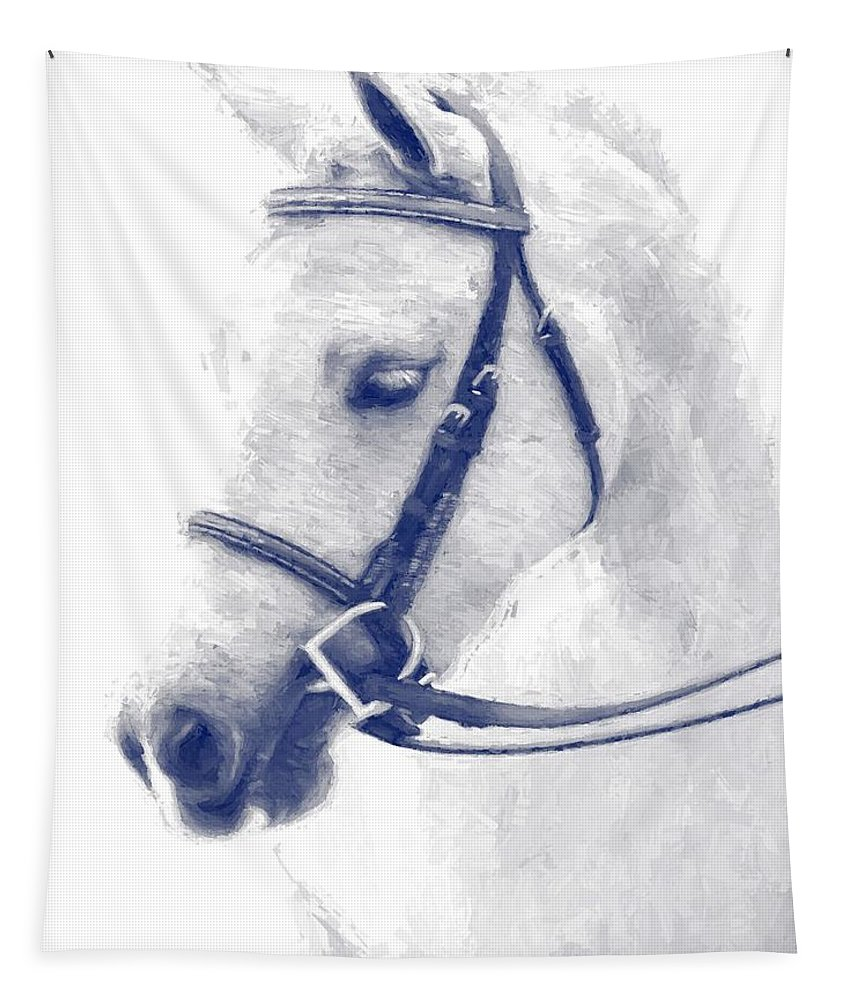 Horse Tapestry featuring the photograph Beauty In A Bridle by Alice Gipson