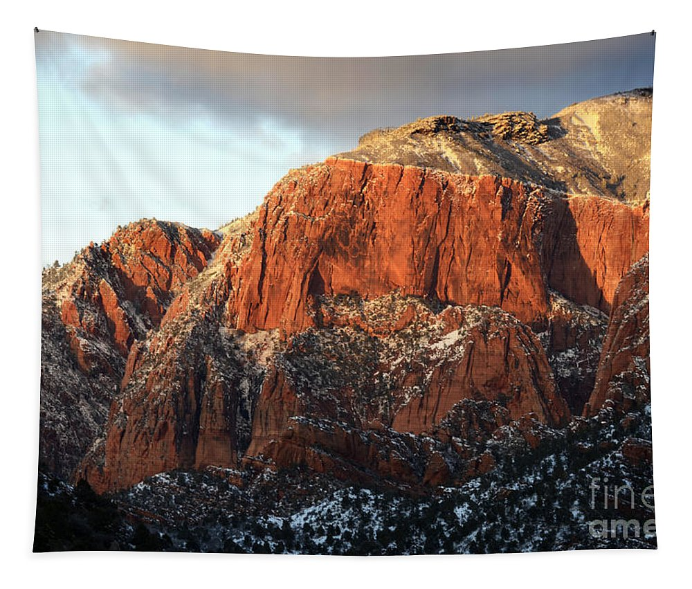 Kolob Tapestry featuring the photograph Beauty Of Kolob Canyon by Bob Christopher