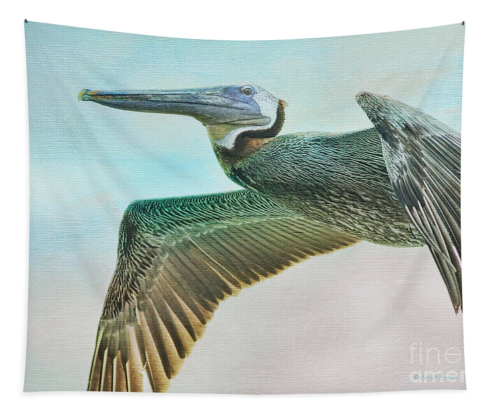 Pelican Tapestry featuring the photograph Beauty Of The Pelican by Deborah Benoit