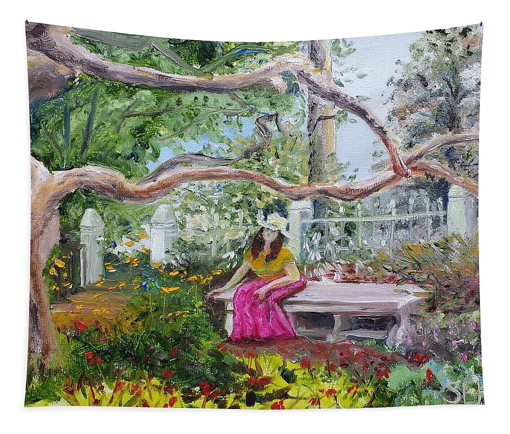 Garden Tapestry featuring the painting Beauty Rest by Susan Hanna