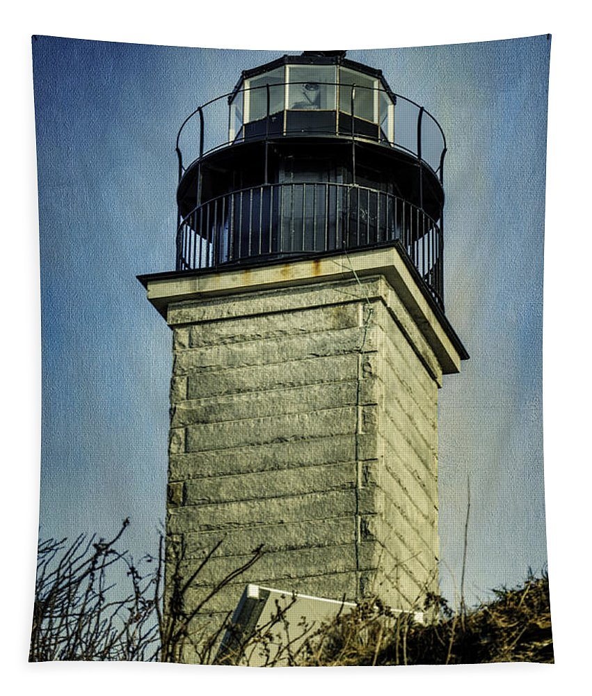 Beavertail Lighthouse Tapestry featuring the photograph Beavertail Lighthouse by Joan Carroll