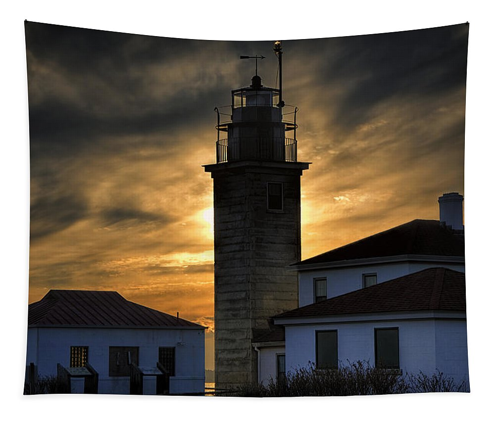 Beavertail Tapestry featuring the photograph Beavertail Lighthouse Too by Joan Carroll