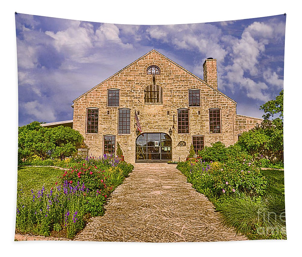 Becker Vineyards Winery Tapestry featuring the photograph Becker Vineyards Winery by Priscilla Burgers