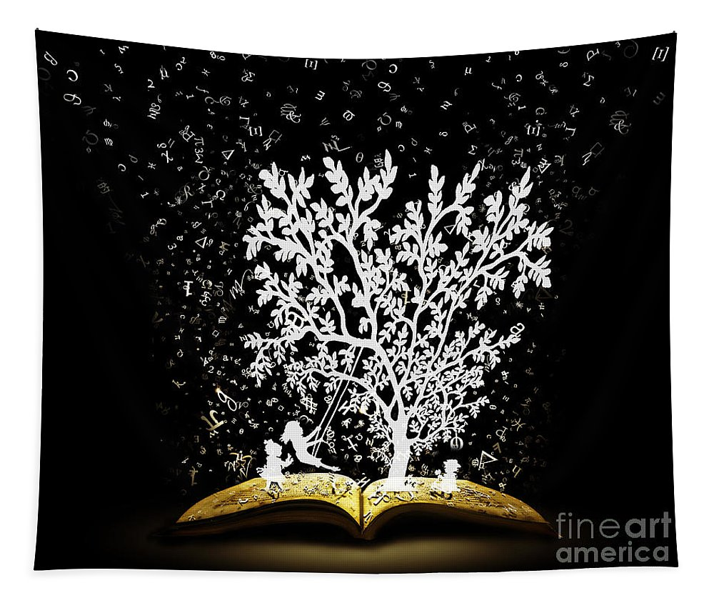 Bedtime Story Tapestry featuring the digital art Bedtime Story by Ben Yassa