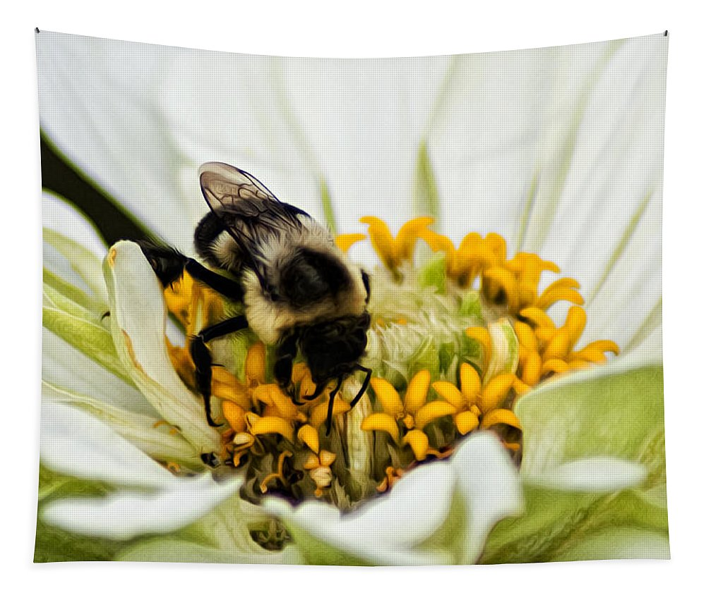 Bee All That You Can Bee Tapestry featuring the photograph Bee All That You Can Bee by Bill Cannon