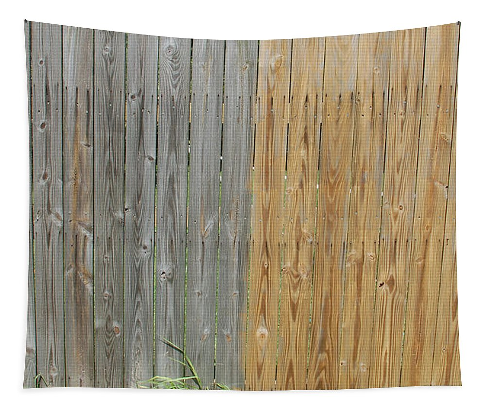 Fence Tapestry featuring the photograph Before And After by Aimee L Maher ALM GALLERY