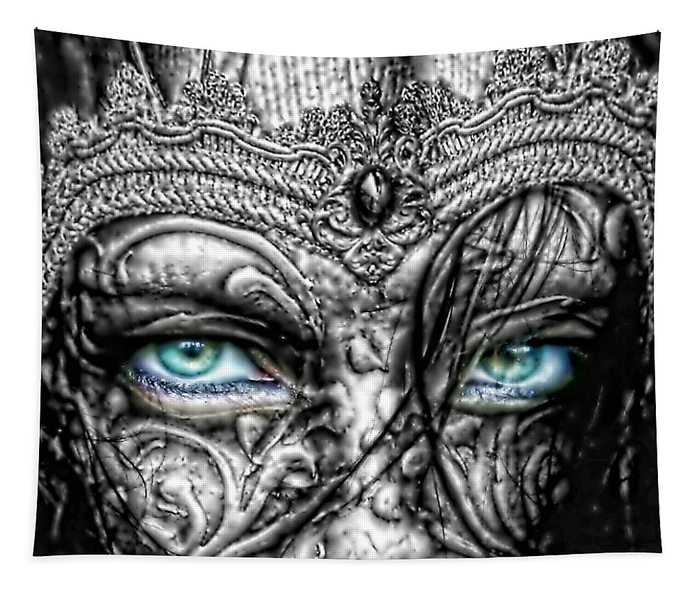 Behind Blue Eyes Tapestry featuring the photograph Behind Blue Eyes by Mo T