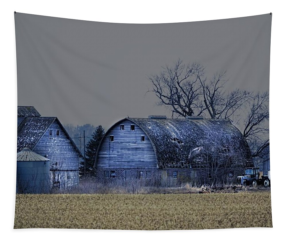 Rustic Tapestry featuring the photograph Behind The Barn by Bonfire Photography