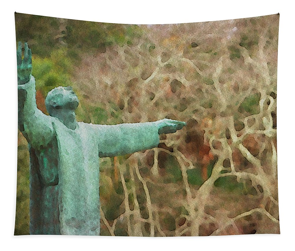 Jesus Father Priest Friar Alicegipsonphotographs St Augustine Florida Tapestry featuring the photograph Behold by Alice Gipson