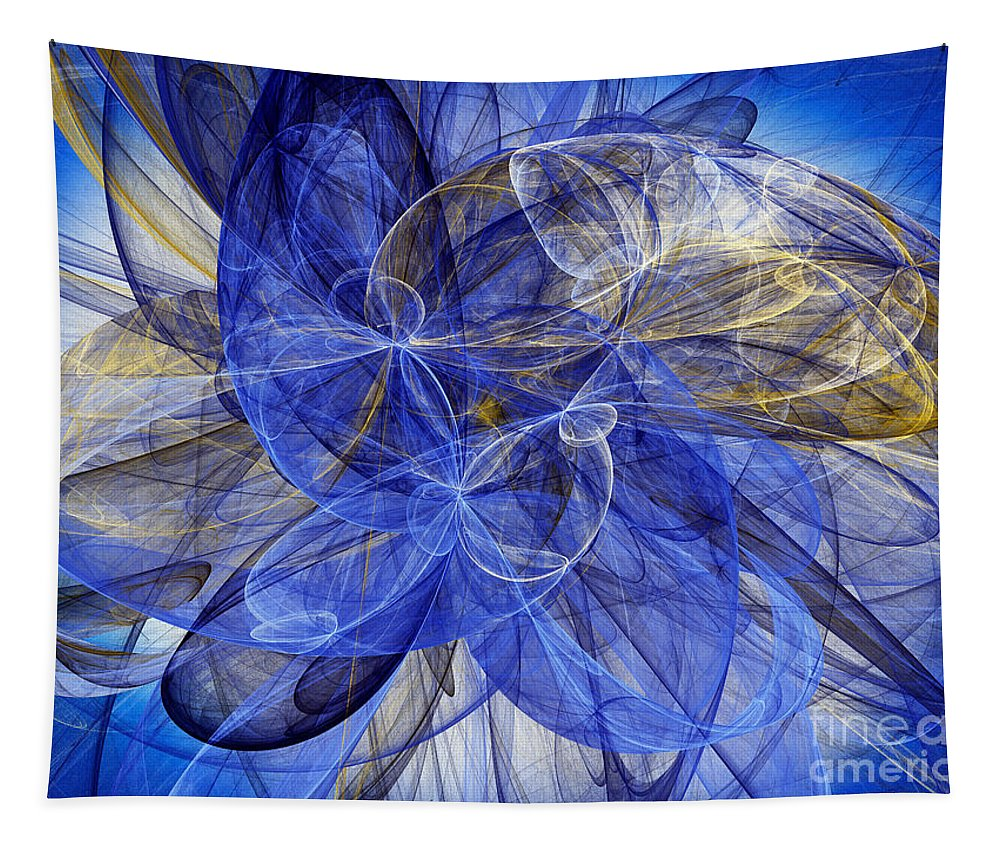 Andee Design Abstract Tapestry featuring the digital art Bella Blue by Andee Design
