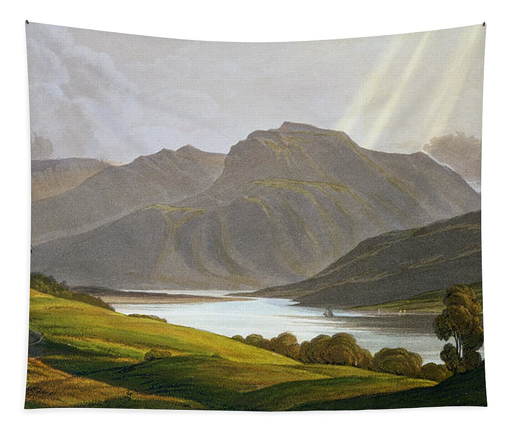 Ben Nevis Tapestry featuring the painting Ben Nevis by George Fennel Robson
