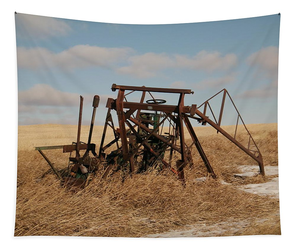 Farm Tapestry featuring the photograph Bereft Farm Equipment by Jeff Swan