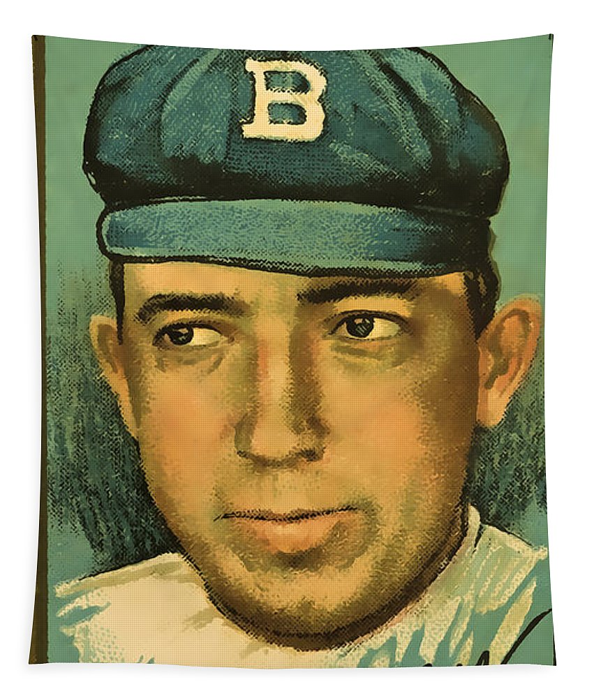 Americana Tapestry featuring the photograph Bergen Brooklyn Dodgers by David Letts