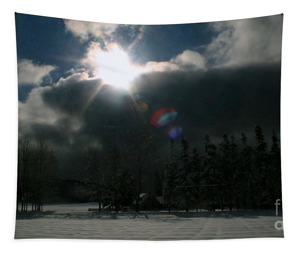 Art Tapestry featuring the photograph Berkshire Winter 3 by Linda Galok